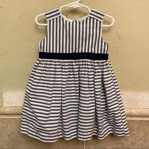 Carters blue white stripe dress size 24mo
